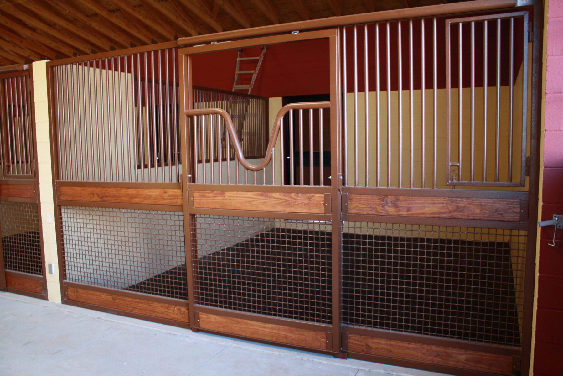 Stall Door No. 2L - Custom open yoke top, mesh bottom