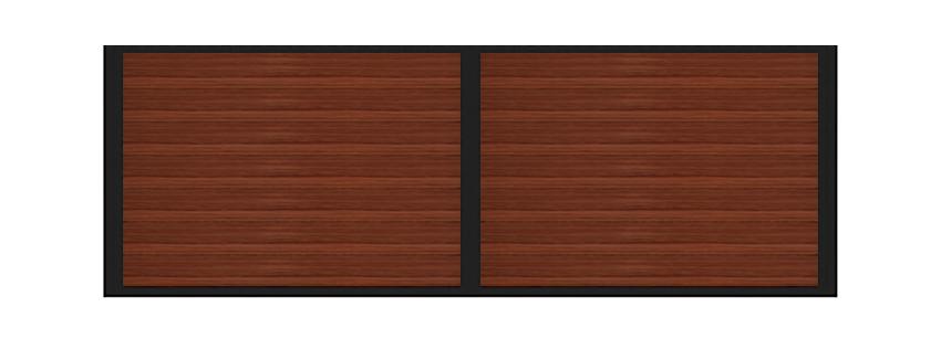 Horizontal wood horse stall divider samples
