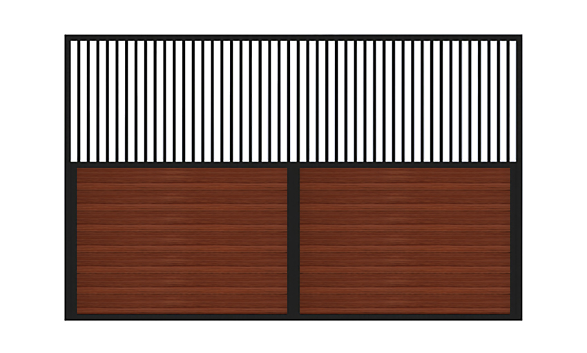Traditional horse stall dividers sample