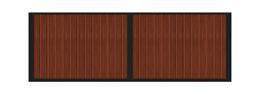 Sample of vertical wood horse stall dividers