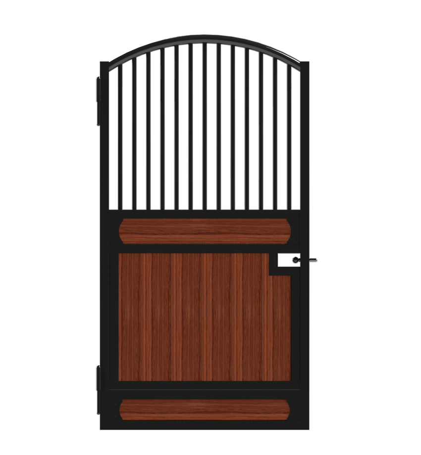 An arched top European horse stall door