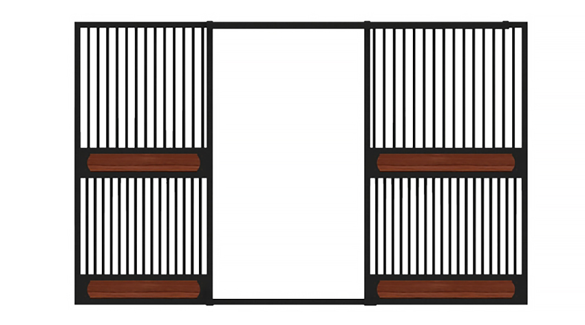 Full grill bottom horse stall fronts
