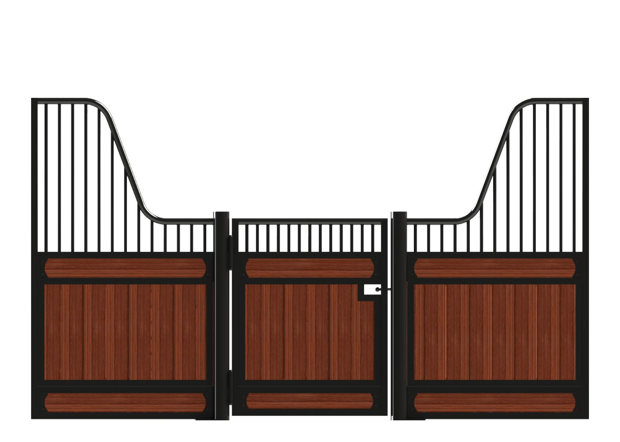 A lowrise European horse stall front sample