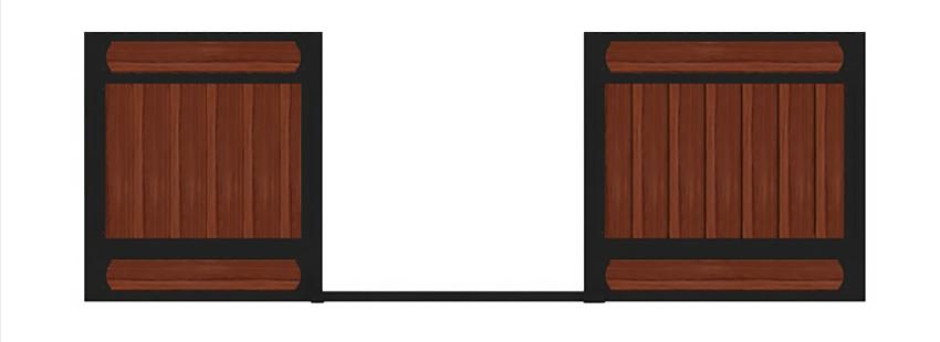 JR elite wood horse stall fronts