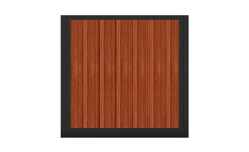 A sample of vertical wood that goes on a horse stall